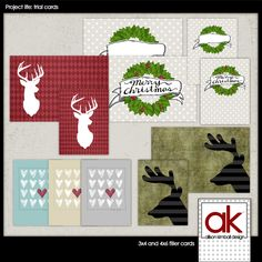 Scrapbooking TammyTags -- TT - Designer - Allison Kimball Design, TT - Item - Journal Card, TT - Theme - Christmas