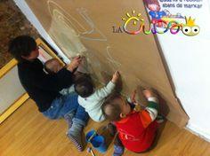La cuca: Hem pintat la paret