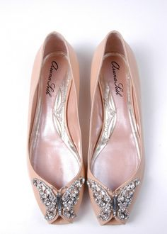 Liana Ballerina in Nude Patent Leather | Aruna Seth