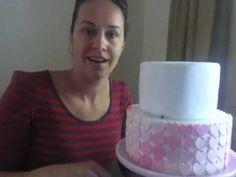 Ombre Heart Swirl cake