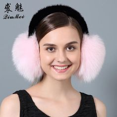 Real Fox Fur Ear Muffs Winter Earmuffs Warmer for Girls Genuine Fur Earmuffs Natural… #BlackFriday is coming early #BestPrice #CyberMonday