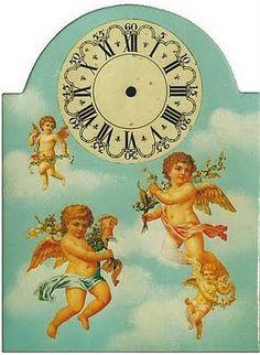 Clock Clock Printable, Printable Frames, Paper Clock, Clock Flower, 2017 Planner, Decoupage Paper, Vintage Cards, Creations, Clip Art