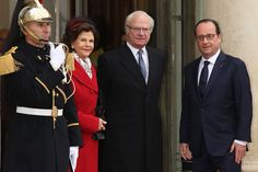 Their Majesties King Carl Gustav and Queen Silvia of Sweden visit France 12/2/2014