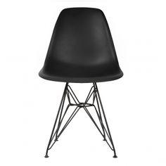 Style Black DSR Eiffel Chair with Black Legs