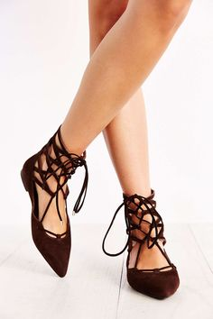 Jeffrey Campbell Atrium Lace-Up Flat - Urban Outfitters