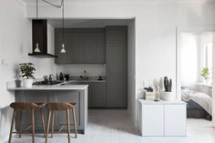 Small grey kitchen