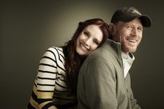Actress Bryce Dallas and father, actor/director Ron Howard.