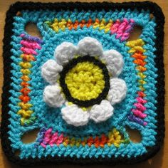 Ravelry. Twisted 1's Flower Power Square by keep-me-in-stitches,