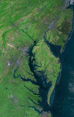 Beautiful New Landsat Mosaic of Chesapeake Bay by NASA Goddard Photo and Video, via Flickr