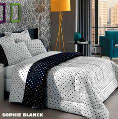 Juego de sábanas y acolchado 100% Algodón. Diseño: Spohie Black