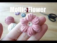 How to Crochet Puff Stitch Flower (treble crochet Diy Crochet Rose, Crochet Cord, Crochet Fabric, Irish Crochet, Crochet Stitches, Crochet Patterns, Crochet Hats, Crochet Leaves, Crochet Flowers
