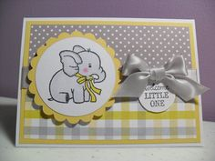 Handmade Baby Card  Baby Elephant Card  Welcome by GGgreetings, $3.95