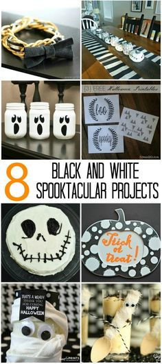 Make a simple but surprising Jack Skellington cake for a Halloween party. Perfect for all lovers of Tim Burton and The Nightmare Before Christmas! Halloween Kostüm, Halloween Projects, Diy Halloween Decorations, Holidays Halloween, Halloween Treats, Jack Skellington Cake, Black White Halloween, Mason Jar Projects, Diy Home Decor On A Budget