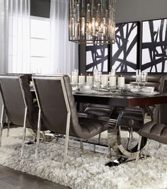 High contrast, high style dining.