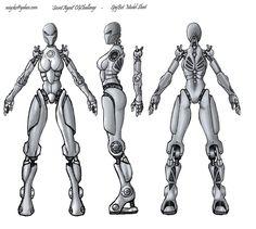 Robot/Fiction  blueprint model sheet