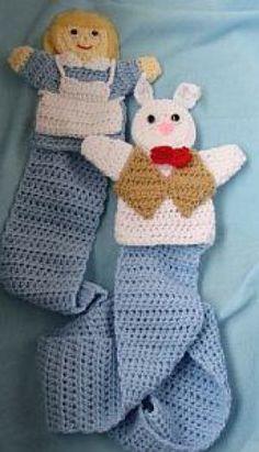 Alice & Her White Rabbit Puppet Scarf   Crochet/Knitting   YouCanMakeThis.com $