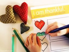 Great craft and Thanksgiving activity for kids that teaches children to recognize and be thankful for the things that the people who love them do for them.