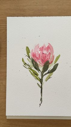 Easy Water Colour Painting, Simple Flower Painting, Simple Watercolor Paintings, Simple Watercolor Flowers, Watercolor Flowers Tutorial, Watercolor Art Lessons, Watercolor Video, Watercolor Painting Techniques, Flower Tutorial