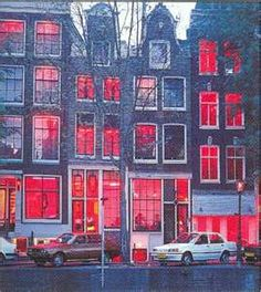 Red Light District, Amsterdam - Turns out that you can get in trouble taking photos of these booths.