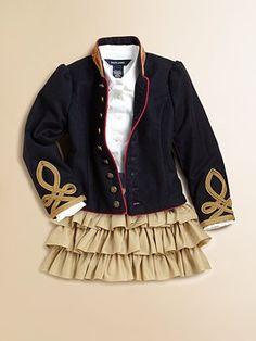 Ralph Lauren Toddler's & Little Girl's Military Jacket | Fashion ...