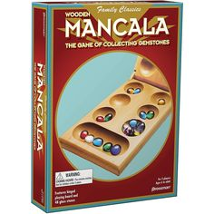 Pressman Mancala - Real Wood Folding Set, with Multicolor Stones Board Games For Two, Games For Kids, Quelf Board Game, Old School Board Games, Seven Years Old, 6 Years, Mouth Game, Mancala Game, Cordoba