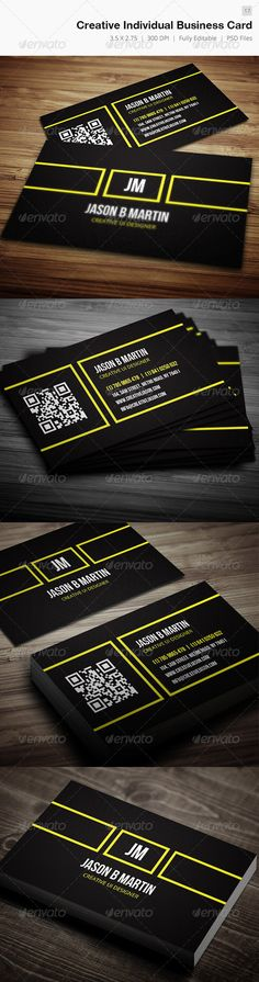 Business card – perfect for any idustry. x with bleed) 300 DPI CMYK Print Ready! Full Editable, Layered you can find fonts here Open Sans Bebas Nueu pleas. Fashion Business Cards, Professional Business Card Design, Unique Business Cards, Printable Business Cards, Free Business Card Templates, Print Templates, Find Fonts, Inspire, Card Designs