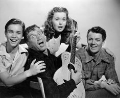 Jeanne Crain, Darryl Hickman, Cornel Wilde, and Chill Wills in Leave Her to Heaven (1945)