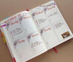 Bullet Journal weekly spread 15