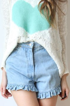 Image of ruffley shorts $25