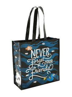 Disney Finding Dory Never Forget Your Friends Reusable Tote,