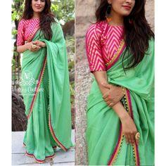 pista green sana silk beautiful festival wear saree