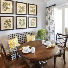 Attractive Settee With Round Dining Table | Dining Kitchen Settee Design Ideas,  Pictures, Remodel And
