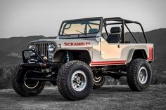The Legacy Scrambler Conversion is a complete Turnkey vehicle, based off of the Jeep Scrambler. Legacy can start with any Jeep CJ or 8 and turn it into a long wheelbase off-road warrior capable of going to the most remote places Cj Jeep, Jeep Cj7, Jeep Truck, Pickup Trucks, Jeep Wrangler, Jeep Pickup, Jeep Scrambler, Vintage Jeep, Vintage Cars