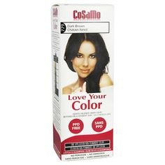CoSaMo - Love Your Color Non Permanent Hair Color 779 Dark Brown - 3 oz NEW PACKAGING Like Clairol , L'Oreal , Garnier , John Frieda , Nice n Easy , Revlon haircolor ... No PPD or No Ammonia ! Paraben FREE ! PPD FREE ! No Peroxide ! Peroxide Free ! -1 RATED BEST HAIR COLOR ! Most Popular Haircolor ! MADE IN USA (PACK OF 3) * Visit the image link more details.