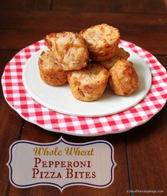 Whole Wheat Pepperoni Pizza Bites   MealPlanningMagic.com