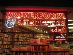 Kramerbooks & afterwards in Dupont Circle, Washington, D.C.  - my favorite bookstore ever....