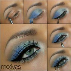Metal, Mykonos Blue, Pacific Sea, Pearl, Little Black Dress Gel Eyeliner, Diamond Glitter Pot.