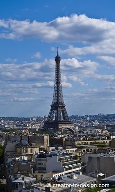 Eiffel Tower view from Arc de Triomphe