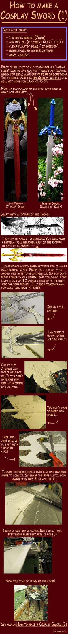 How to make a Cosplay Sword 1 by *Eressea-sama on deviantART