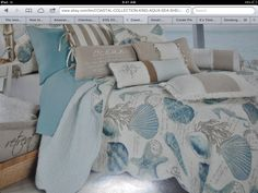 Gorgeous seashell bedding by Coastal Collection - bought it at TJMaxx!  : )