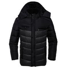 (31.99$)  Buy here  - 2017 Brand Winter Jacket Men Down Jackets Warm Coat Hooded White Duck Down Jackets Coat Men Warm Outwear L~3XL