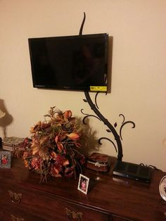 Hide tv and digital picture frame cords without by GenixCreations