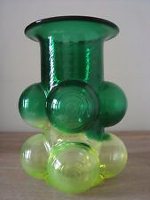 Vintage Retro Riihimaki Nanny Still Scandinavian Glass Vase.