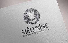 Création de l'identité visuelle pour la boutique de lingerie féminine Mélusine, Rue du Moulin à Charleville-Mézières.