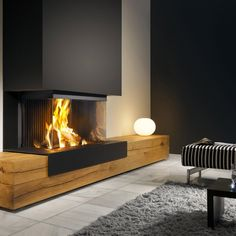 Above Fireplace Ideas, Fireplace Feature Wall, Home Fireplace, Modern Fireplace, Living Room With Fireplace, Fireplace Mantels, Lounge Design, Modern Wood Burning Stoves, Interior Exterior