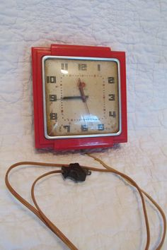 Hey, I found this really awesome Etsy listing at https://www.etsy.com/listing/468958515/vintage-telechron-clock-red-model-2h25