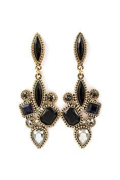 Sapphir Deco Earrings on Emma Stine Limited