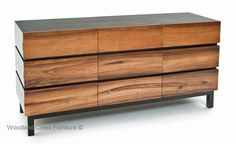 Modern Wooden Sideboard by Woodland Creek Furniture.  Available in custom sizes to fit your home.  Over 1,500 unique furniture designs all available in custom layouts and sizes.