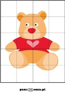 Dzień Pluszowego Misia - gigantyczna porcja materiałów - Pani Monia Puzzles For Toddlers, Busy Book, Baby Sewing, Brown Bear, Fun Games, Preschool Activities, Baby Quilts, Pikachu, Kindergarten