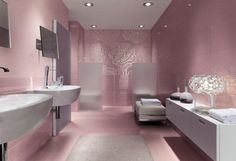 Get the most unique bathroom design in the world tips and advice here for free. Offers a source on bathroom interior design topics and guide. Feminine Bathroom, Beautiful Bathroom Designs, Pink Bathrooms Designs, Modern Bathroom Design, Bathroom Interior, Girl Bathroom Decor, Bathroom Tile Designs, Bathroom Design Luxury, Pink Bathroom Decor